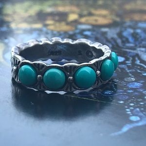 Sterling and Turquoise Navajo Band